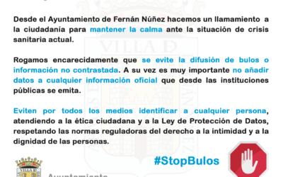 Nueva información del Ayuntamiento de Fernán Núñez