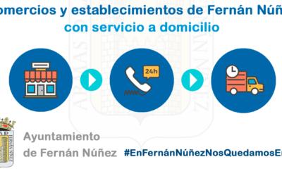 Comercios y establecimientos en Fernán Núñez con servicio a domicilio