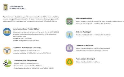 Apertura al público del Ayuntamiento de Fernán Núñez e instalaciones municipales