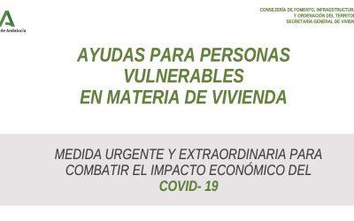 Ayudas para personas vulnerables en materia de vivienda de la Junta de Andalucía