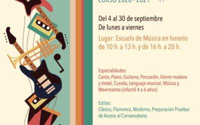 Abierto el plazo de matriculación de la Escuela Municipal de Música de Fernán Núñez