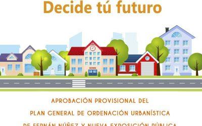 Aprobación provisional del Plan General de Ordenación Urbanística (PGOU) de Fernán Núñez y nueva exposición pública para determinadas zonas del término municipal 2020