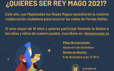 ¿Quieres ser Rey Mago 2021?