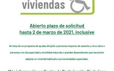 Abierta convocatoria de subvenciones para la adecuación funcional básica de viviendas en la Comunidad Autónoma de Andalucía