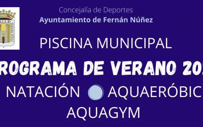Programa Deportivo en la Piscina Municipal Verano 2021
