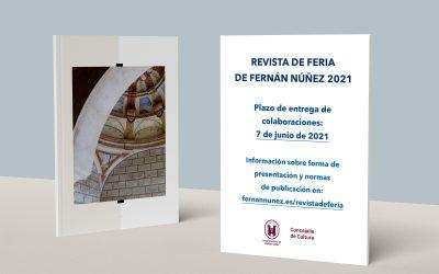 Normas de publicación en la Revista de Feria de Fernán Núñez 2021