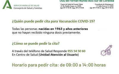 Cita para vacunación COVID-19 personas nacidas en 1966 y años anteriores