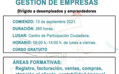 Curso de Administración y Gestión de Empresas, dirigido a personas desempleadas y emprendedoras